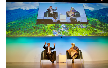 "Erik Solheim discusses ""Rally For Rivers – A Global Movement"" with Sadhguru, Founder – Isha Foundation"